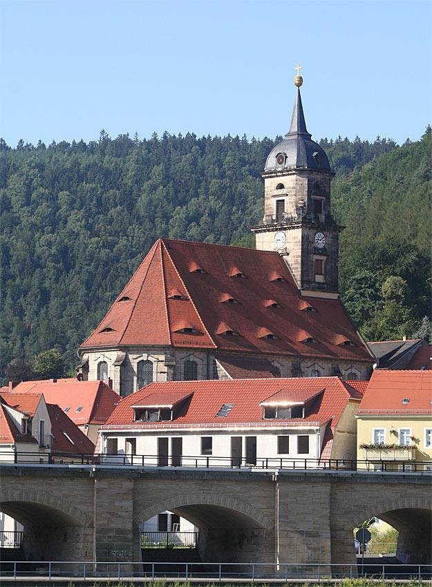 Stadtkirche von Königstein in der Sächsischen Schweiz