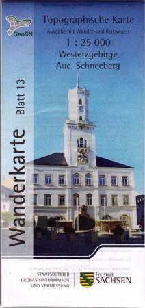 Wanderkarte Aue / Schneeberg