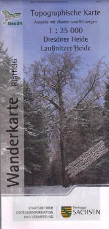 Wanderkarte Dresdner Heide - Laußnitzer Heide