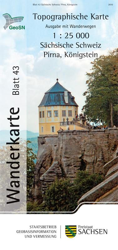 Wanderkarte Pirna, Königstein in Sachsen